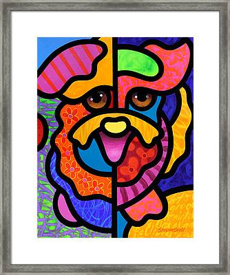 Happy Dog Framed Print by Steven Scott
