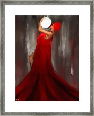 Kiss To The Moon Framed Print by Lourry Legarde