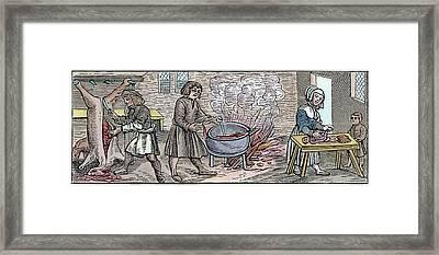 Kitchen, 1518 Framed Print