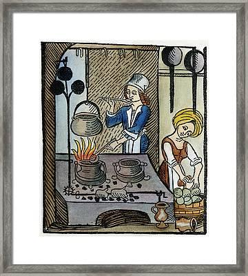 Kitchen Scene, 1507 Framed Print