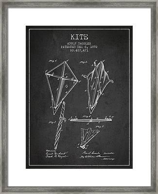 Kite Patent From 1892 Framed Print