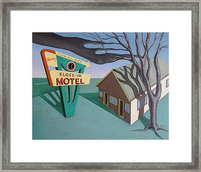 Framed Print featuring the painting Klose-in Motel by Sally Banfill