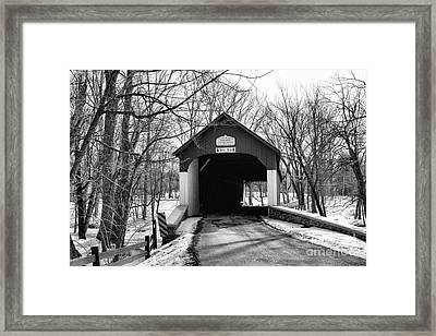 Knechts Covered Bridge Framed Print by Paul Ward