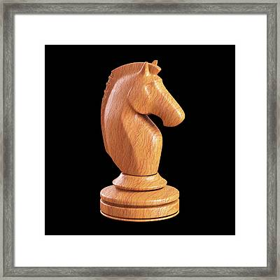 Knight Chess Piece Framed Print
