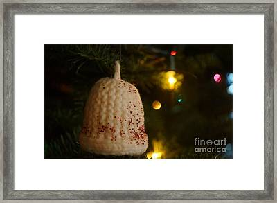 Knit Bell Framed Print by Kerri Mortenson