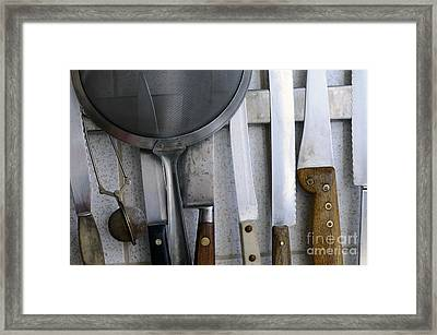 Knives And Kitchenware Hanging Framed Print by Sami Sarkis