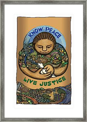 Know Peace Framed Print by Ricardo Levins Morales