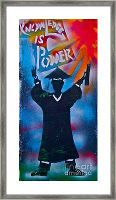Knowledge Is Power 7 Framed Print by Tony B Conscious