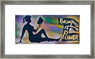 Knowledge Is Power 6 Framed Print by Tony B Conscious
