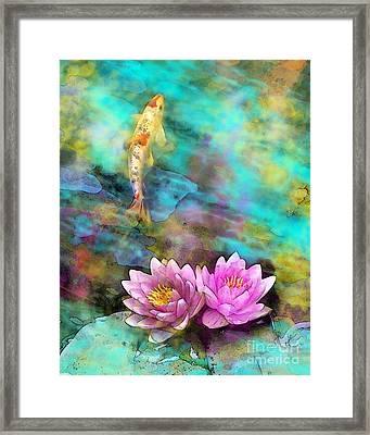 Koi Morning Mist Framed Print