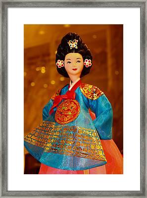 Korean Doll Framed Print by Goy Tex