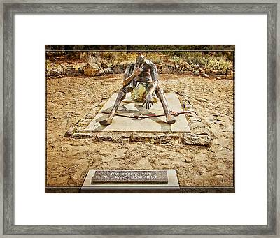 Framed Print featuring the photograph Korean War Monument by Steve Benefiel