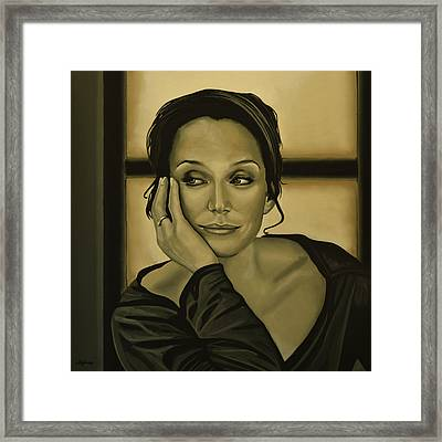 Kristin Scott Thomas Framed Print by Paul Meijering