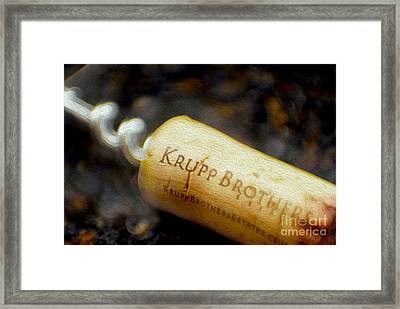 Krupp Cork Framed Print by Jon Neidert