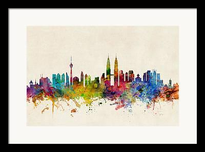 Malaysia Digital Art Framed Prints
