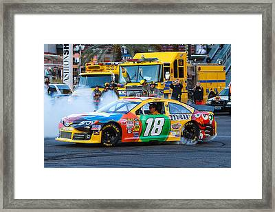 Kyle Busch Framed Print by James Marvin Phelps