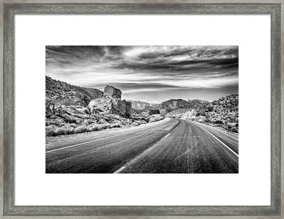 Framed Print featuring the photograph Kyle Canyon Road by Howard Salmon