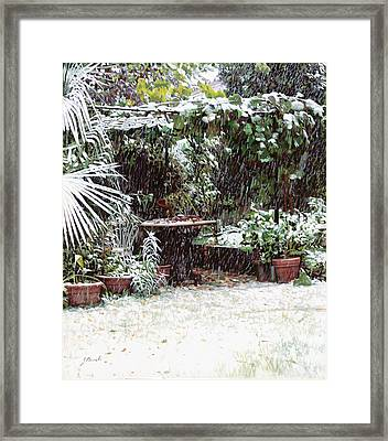 La Neve Sotto La Topia Framed Print