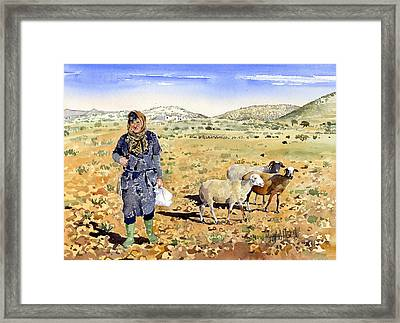 La Pastora Framed Print by Margaret Merry