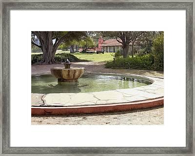 La Purisima Fountain Framed Print