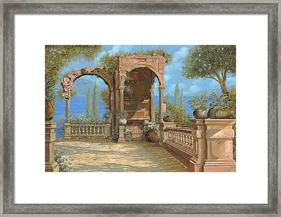 La Terrazza Sul Lago Framed Print