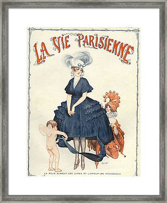 La Vie Parisienne 1916 1910s France Framed Print by The Advertising Archives
