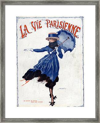La Vie Parisienne 1918 1910s France Leo Framed Print by The Advertising Archives
