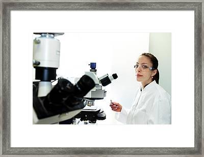 Lab Technician Framed Print by Gombert, Sigrid