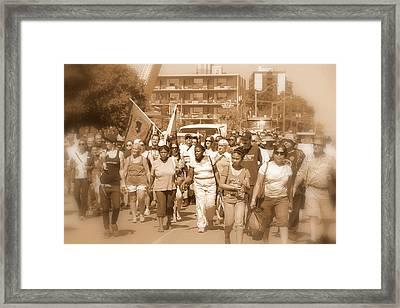 Labor Day Parade Framed Print