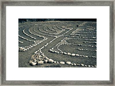 Labyrinth Journey Framed Print