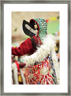 Ladakh, India Married Ladakhi Women Framed Print by Jaina Mishra