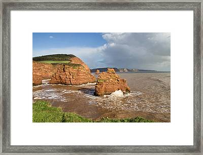 Ladram Bay Framed Print by Pete Hemington