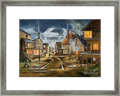 Lady At The Window Framed Print