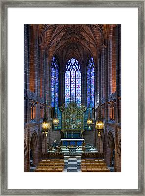 Lady Chapel Inside Liverpool Cathedral Framed Print