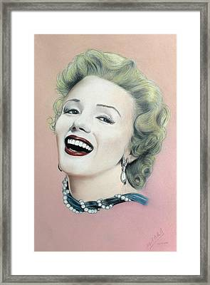 Lady In Pink Finished Framed Print by Miguel Rodriguez