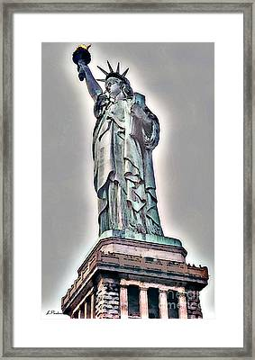 Lady Of Liberty Framed Print by Linda  Parker