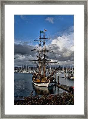 Framed Print featuring the photograph Lady Washington by Michael Gordon