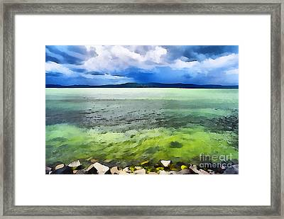 Lake Balaton Hungary Framed Print by Odon Czintos