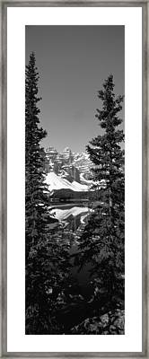 Lake In Front Of Mountains, Banff Framed Print by Panoramic Images