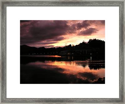 Framed Print featuring the photograph Lake J Sunset by Craig T Burgwardt
