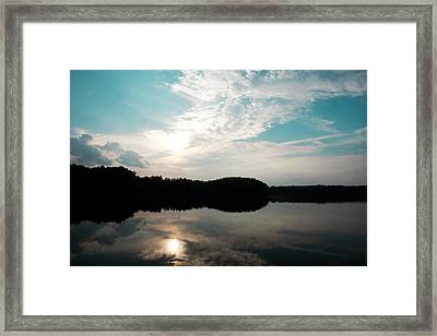 Lake Landscape Framed Print by Kim Fearheiley