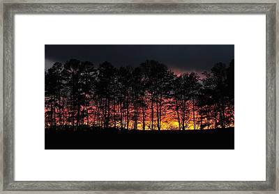 Lake Lucas Sunset Framed Print by Eric Abernethy