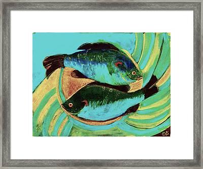 Lake Martin  Fish Framed Print