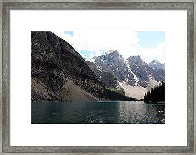 Lake Moraine Framed Print by Carolyn Ardolino