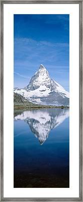 Lake, Mountains, Matterhorn, Zermatt Framed Print