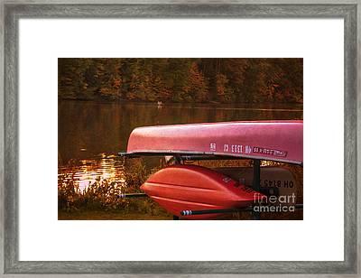 Lake Newport Kayaks Framed Print