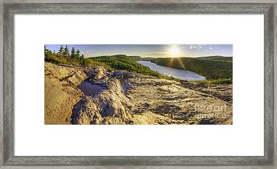 Lake Of The Clouds Framed Print by Twenty Two North Photography