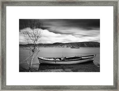 Framed Print featuring the photograph Lake by Okan YILMAZ
