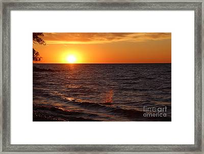 Framed Print featuring the photograph Lake Ontario Sunset by Jemmy Archer
