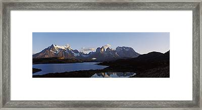 Lake Pehoe In Torres Del Paine National Framed Print by Panoramic Images